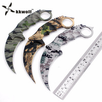 Latest CS GO Karambit Knife Camouflage Survival Tactical Fighting Folding Knife Hunting Knives Camping EDC Tool