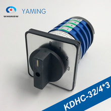 цена на Knob Switch KDHC-32/4*3 For Welding Machine Changeover Rotary Electrical Switches 4 Poles 0-3 Position Silver Contact