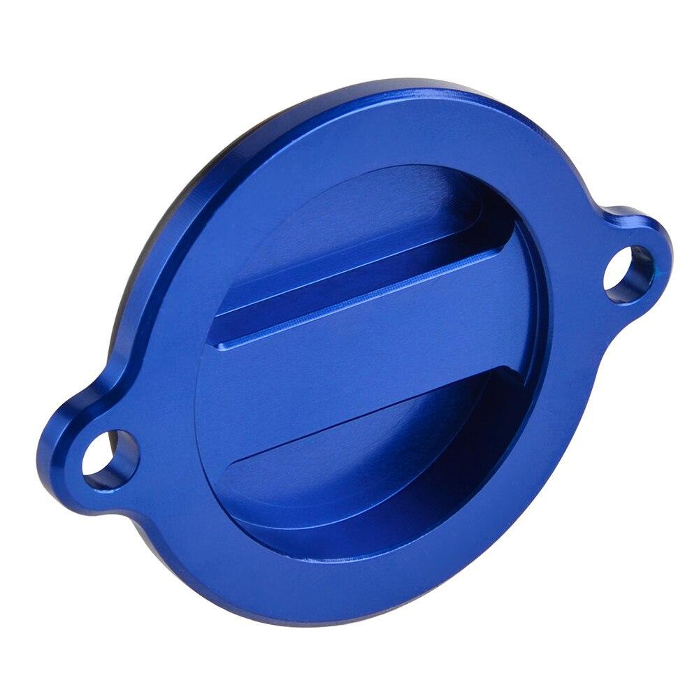 HUSABERG FE 390 450 501 570 2009-2014 ALUMINIUM OIL FILTER CAP COVER BLUE