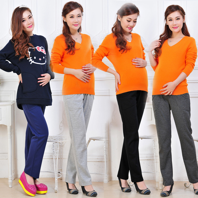Casual Pregnant Pants Maternity Clothes for Pregnant Women Trousers Pregnancy Pant Gestante Pantalones Embarazada Clothing B125