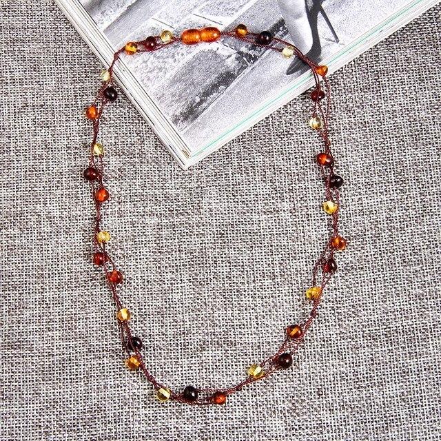 HAOHUPO Ambra Naturale Del Fiore Dei Monili Multicolor Collana di Ambra Baltica Bead Necklace per Le Donne Regalo Unico Adulto Etsy Fornitore