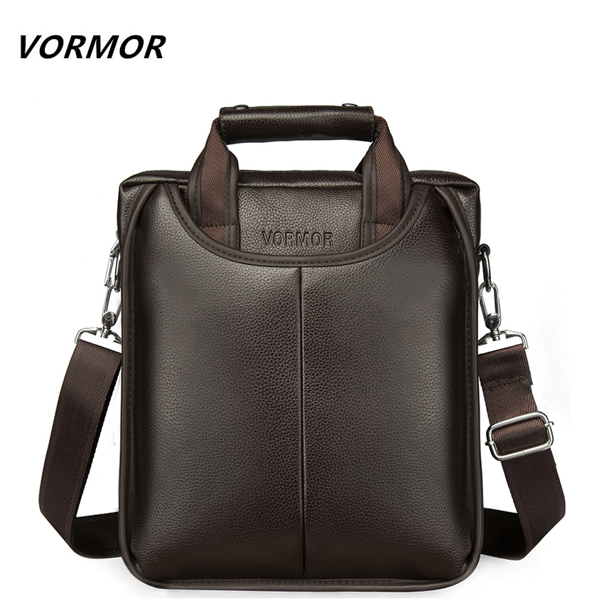 VORMOR Brand PU Leather Men Bags Fashion Male Messenger Bags Men's Small Briefcase Man Casual Crossbody Shoulder Handbag aerlis brand men handbag canvas pu leather satchel messenger sling bag versatile male casual crossbody shoulder school bags 4390
