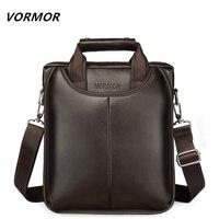 VORMOR Brand PU Leather Men Bags Fashion Male Messenger Bags Men's Small Briefcase Man Casual Crossbody Shoulder Handbag