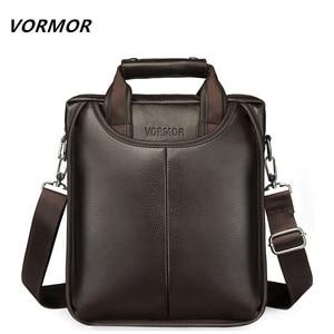 Image 1 - VORMOR marka PU skórzane torby męskie moda mężczyzna Messenger torby męskie małe teczki człowiek dorywczo torebka na ramię Crossbody