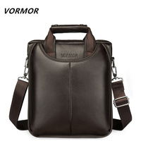VORMOR Brand PU Leather Men Bags Fashion Male Messenger Bags Men S Small Briefcase Man Casual