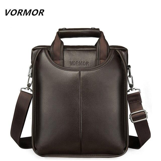 Vormor marca de couro do plutônio dos homens sacos moda masculina mensageiro sacos pequeno homem maleta casual crossbody bolsa ombro