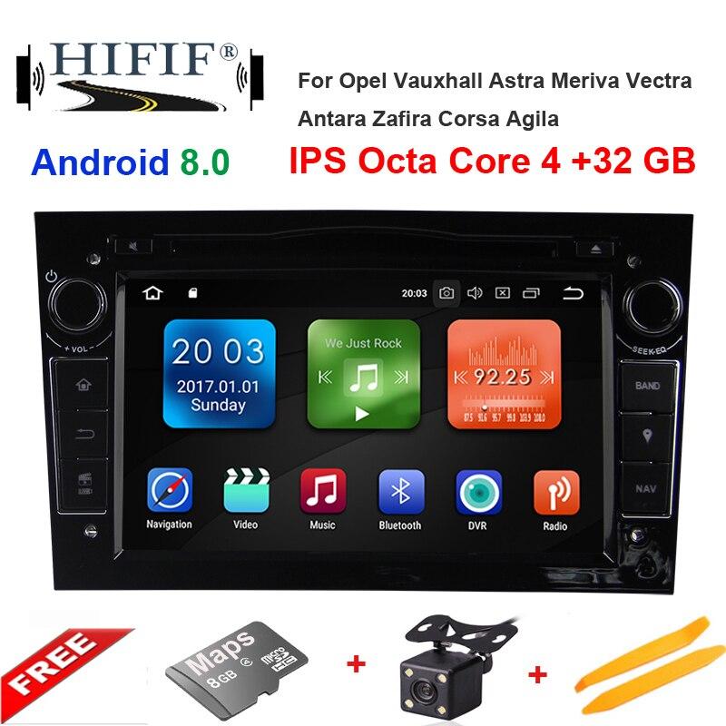 Car Multimedia Player GPS Android 8.0 2 Din DVD Automotivo For OPEL/ASTRA/Zafira/Combo/Corsa/Antara/Vivaro Radio FM DSP