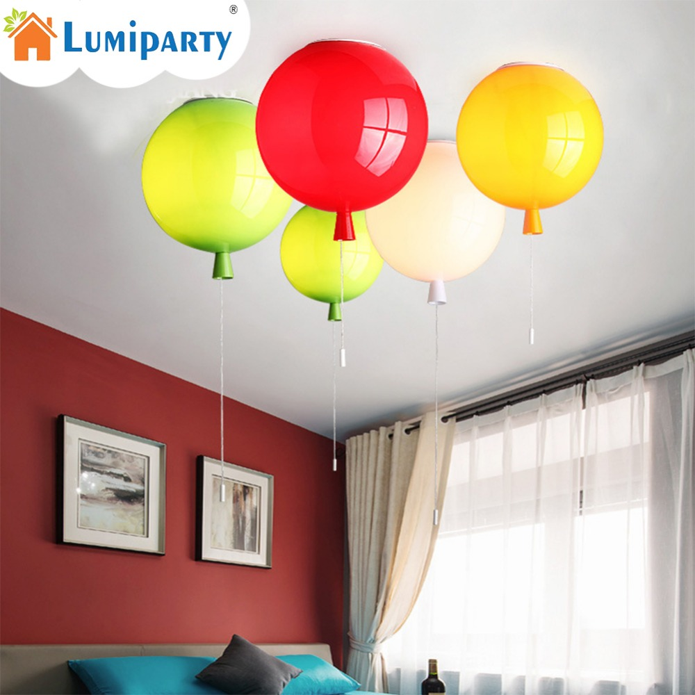 LumiParty Novelty Color Balloon Ceiling Lights Modern Style Restaurant A Living Room light Children Bedroom Lamp lamparas