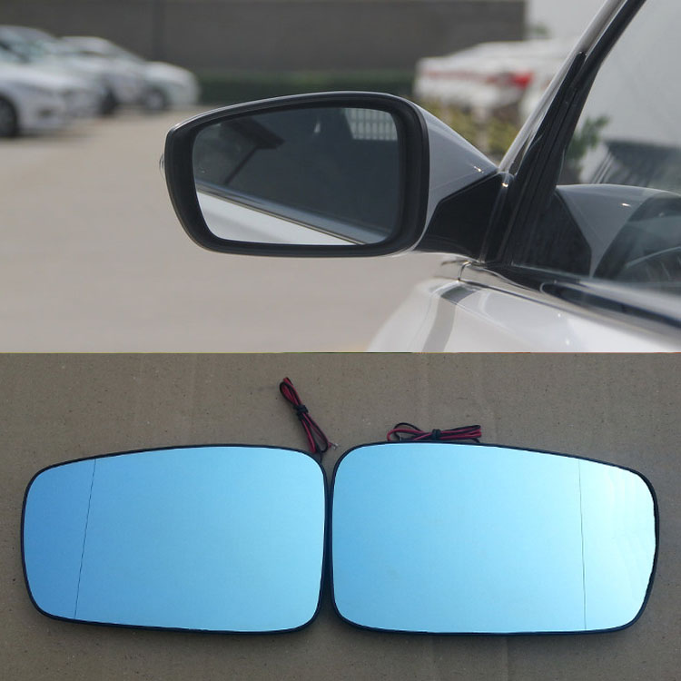 Savanini 2pcs New Power Heated w/Turn Signal Side View Mirror Blue Glasses For Hyundai Sonata 8th