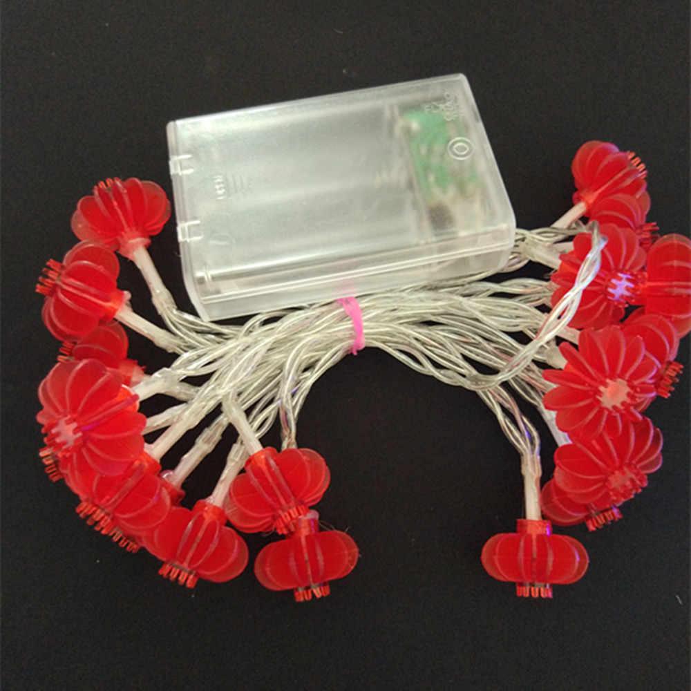 YIYANG Traditionellen Roten Terrasse Laterne LED String Licht 5 M Batterie Betrieben Partei Liefert Chinesische Neue Jahr Dekoration Navidad