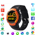 Newst lem3 3g wifi smart watch teléfono android 5.1 os mtk6580 quad core teléfono smartwatch apoyo google mapa del ritmo cardíaco monitoreo