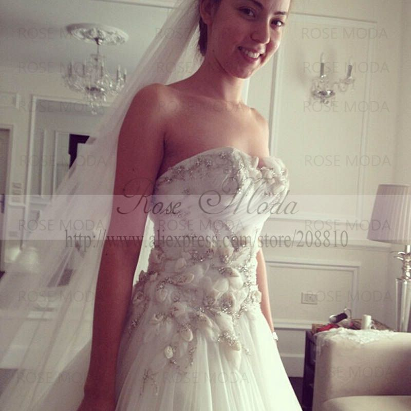 Flower Corset Wedding Dress