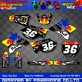 Custom Team Graphics Backgrounds Decals 3M Customized  RB Sticker Kits YZ YZF WRF 125 250 400 450  Motorcylce Dirt Bike MX Parts