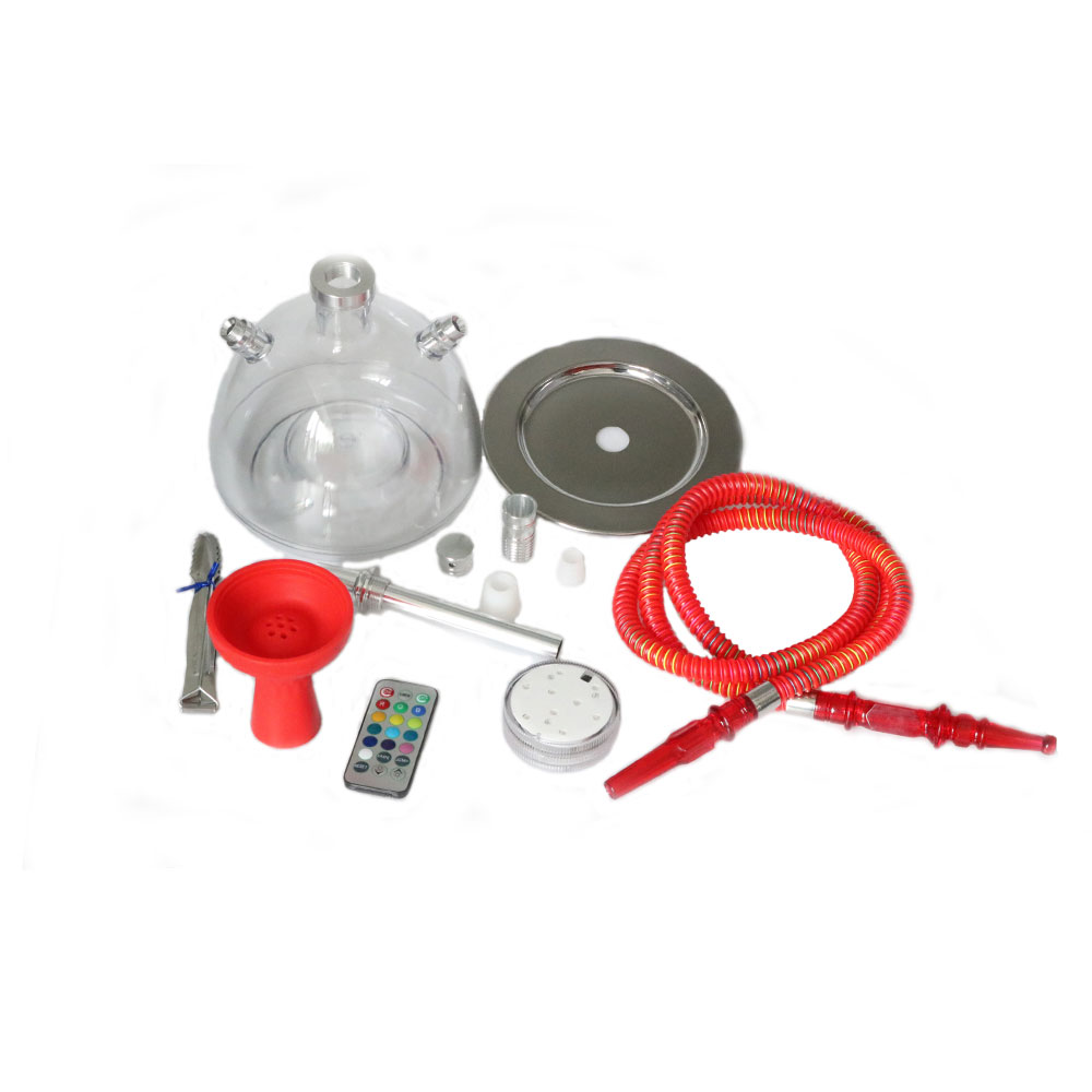 SY 1set Nieuwe Collectie Acrylic Hookah Shisha Water pip Complete Set Colorful Remote Control Lights Hookah