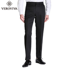 VEROVIVA Man Pants Smart Casual Straight Zipper Fly Trousers Casual Brief Solid 4 Colors Big Size Male Business Pants