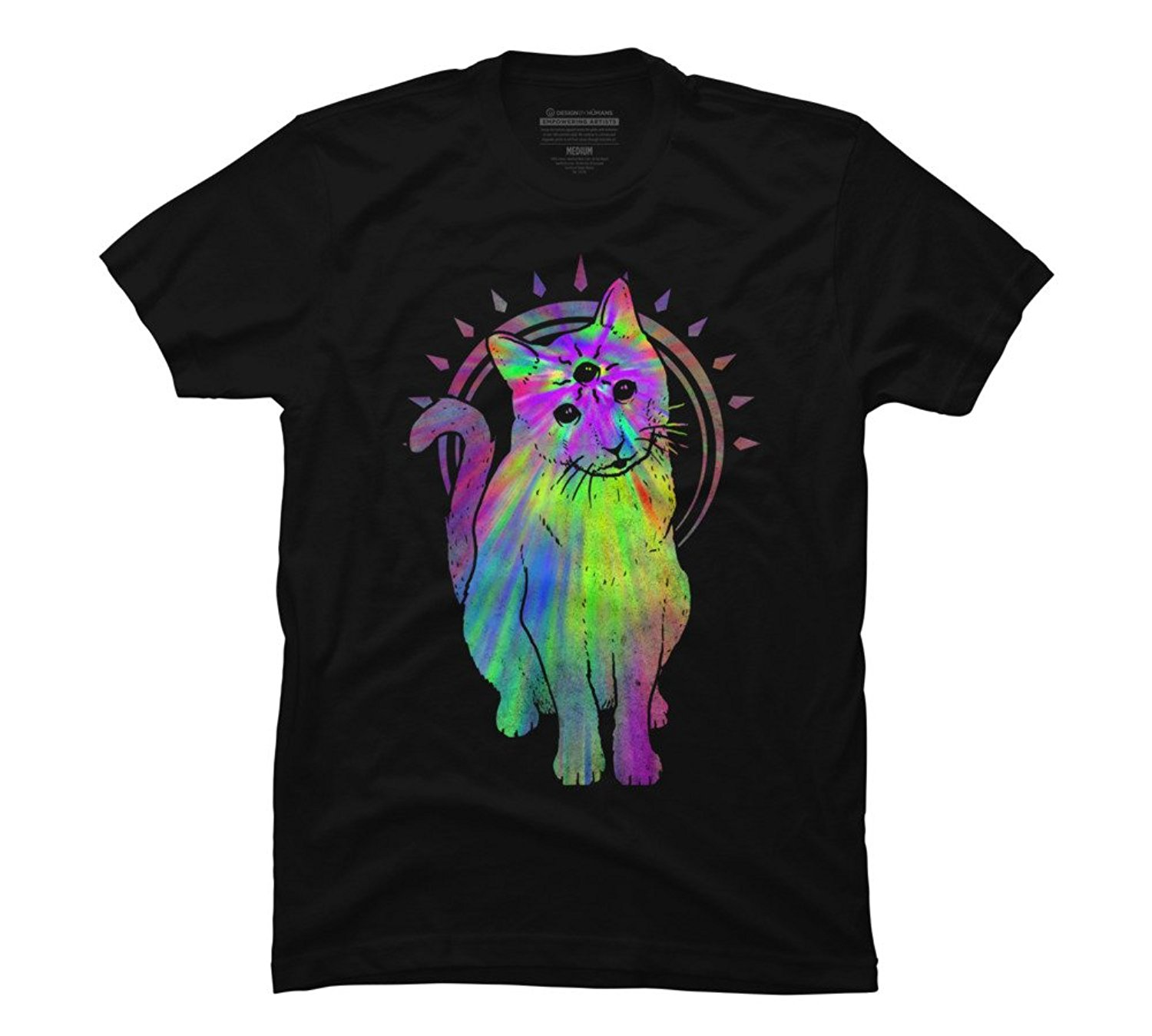 2018 Summer Men Tee Shirt Psychic psychedelic trippy cat Men's Graphic T Shirt - Design By Humans Custom Made T-shirt