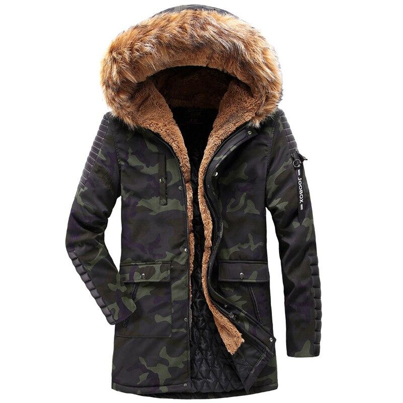 Long Épais Parka Camo Hommes Hiver Camouflage Capuchon Coupe À Veste noir De Fourrure vent Col Chaud Mode Manteau Vêtements iOXZTkPu