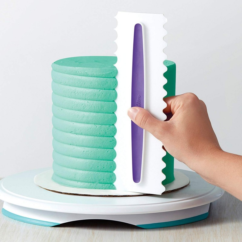 3pcs pastry baking cake Spatulas Kitchen Creative cooking fondant Scraper Icing Comb Set baking tools for Cakes Decoration in Baking Pastry Spatulas from Home Garden
