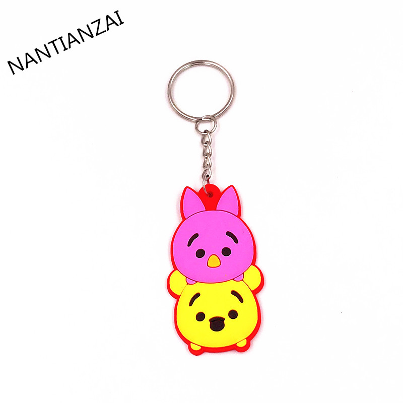 1PCS-Cute-Cartoon-TSUM-TSUM-Mickey-Minnie-Donald-Cartoon-Doll-Keychain-Kids-Gift-Key-ring-Backpack (4)