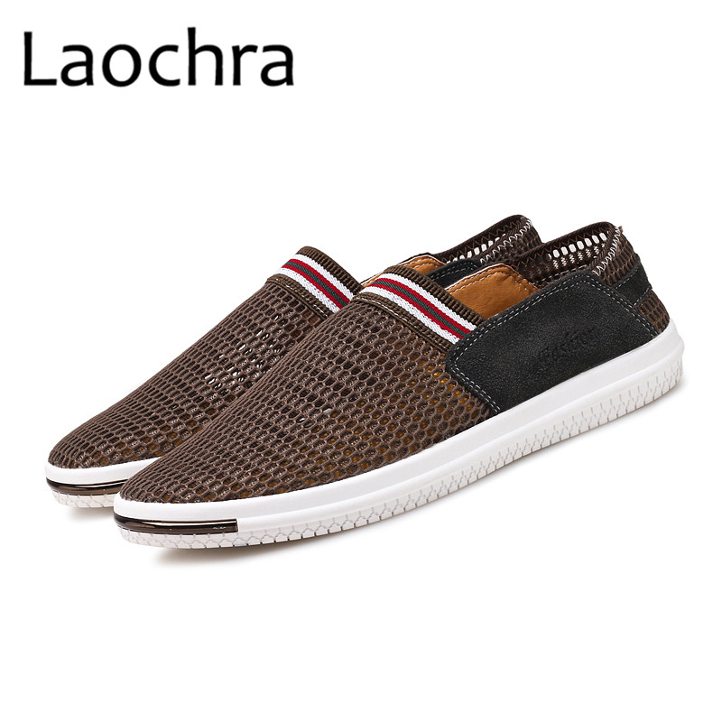 LAOCHRA Men Breathable Mesh Fashion Shoes Mens Cool Summer Moccasins - Men's Shoes - Photo 4