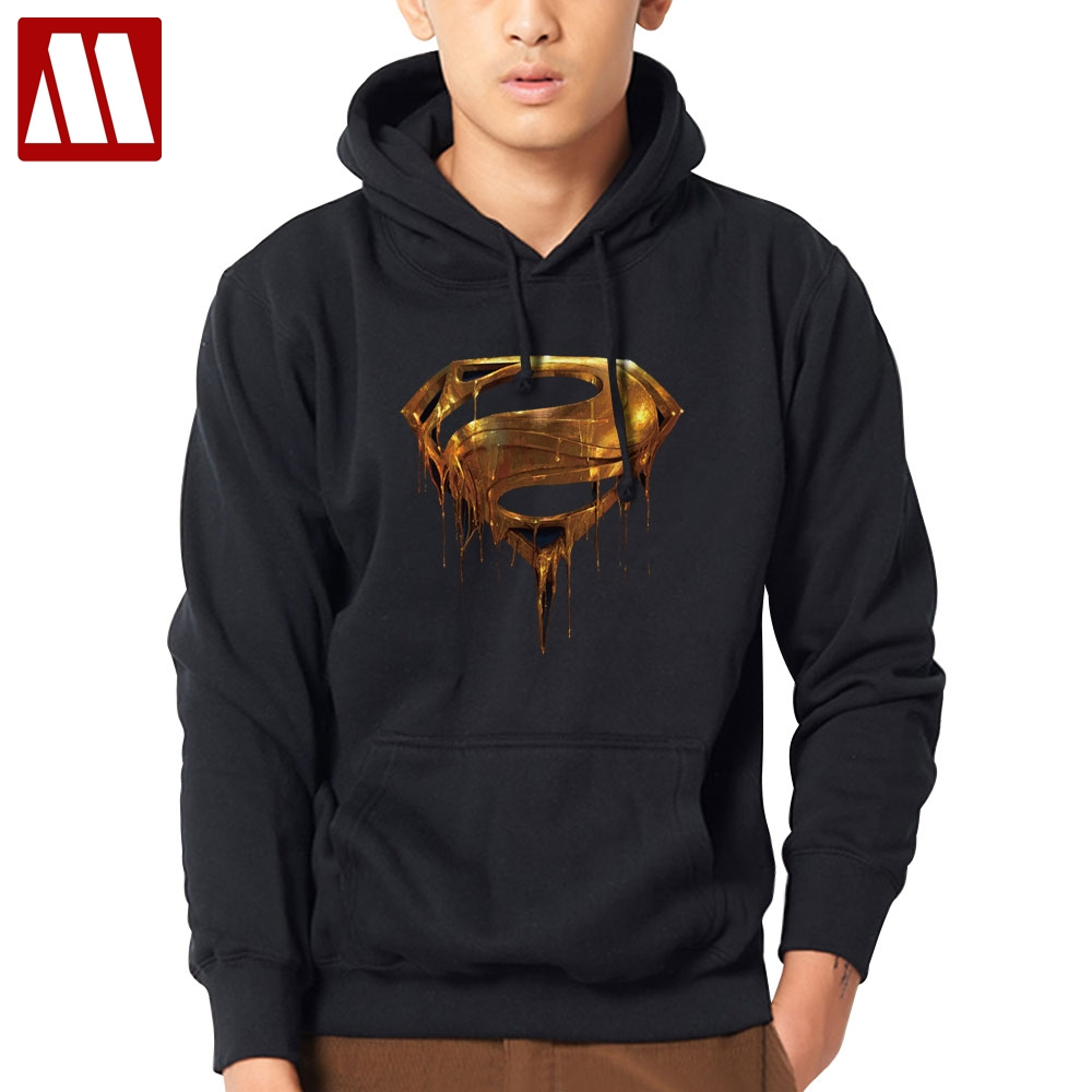 MYDBSH New Superman Hoodie Casual Hooded Men Long Sleeve Cotton Fall/Winter Warm Sweatshirts Men's Pullover Tracksuit Costume