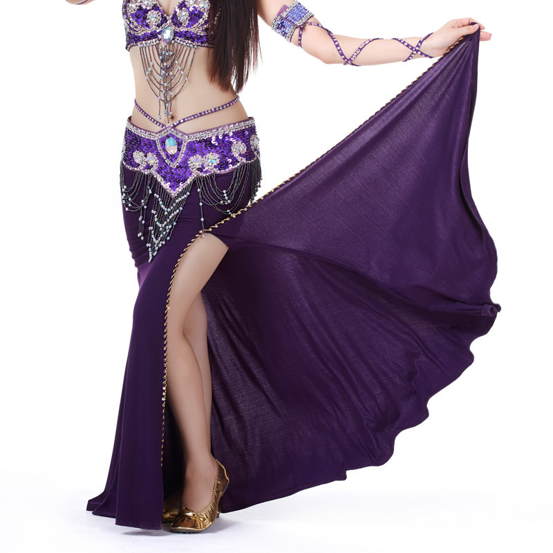 2018 Women Belly Dance Costume Professional Performances Split Skirt Dress Oriental Dancing Clothing12 Color