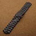 Специальные выпуклые конце Ремешок из Черной Керамики 22 мм наконечник 11 мм для бренд алмазов часы аксессуары мужские часы ремешок браслет мода
