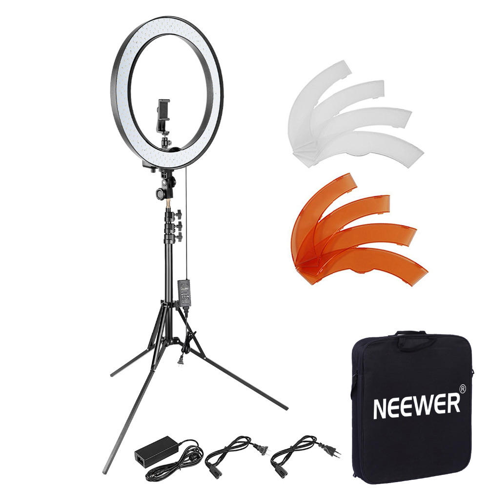 Neewer Upgraded 18-inch Outer Dimmable SMD LED Ring Light Foldable 79-inch Stand Rotatable Phone Holder Filter and Bluetooth kitNeewer Upgraded 18-inch Outer Dimmable SMD LED Ring Light Foldable 79-inch Stand Rotatable Phone Holder Filter and Bluetooth kit