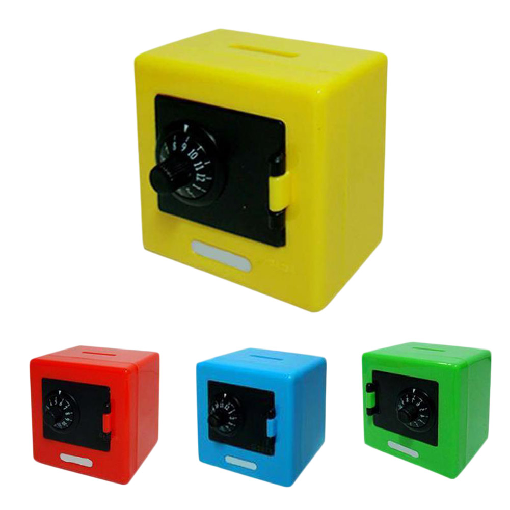 Novelty Toys Simulation Mini Safe Box Safe Deposit Box Mini Piggy Bank Children Saving Box Plastic Crafts can dropshipng ...