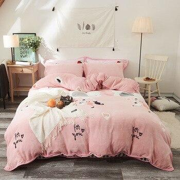 Luxury Bedding Set Cartoon Printed Duvet Cover No Filler Zipper Closure Bed Sheet /Bed Mattress  Pillow Home Textile Designer
