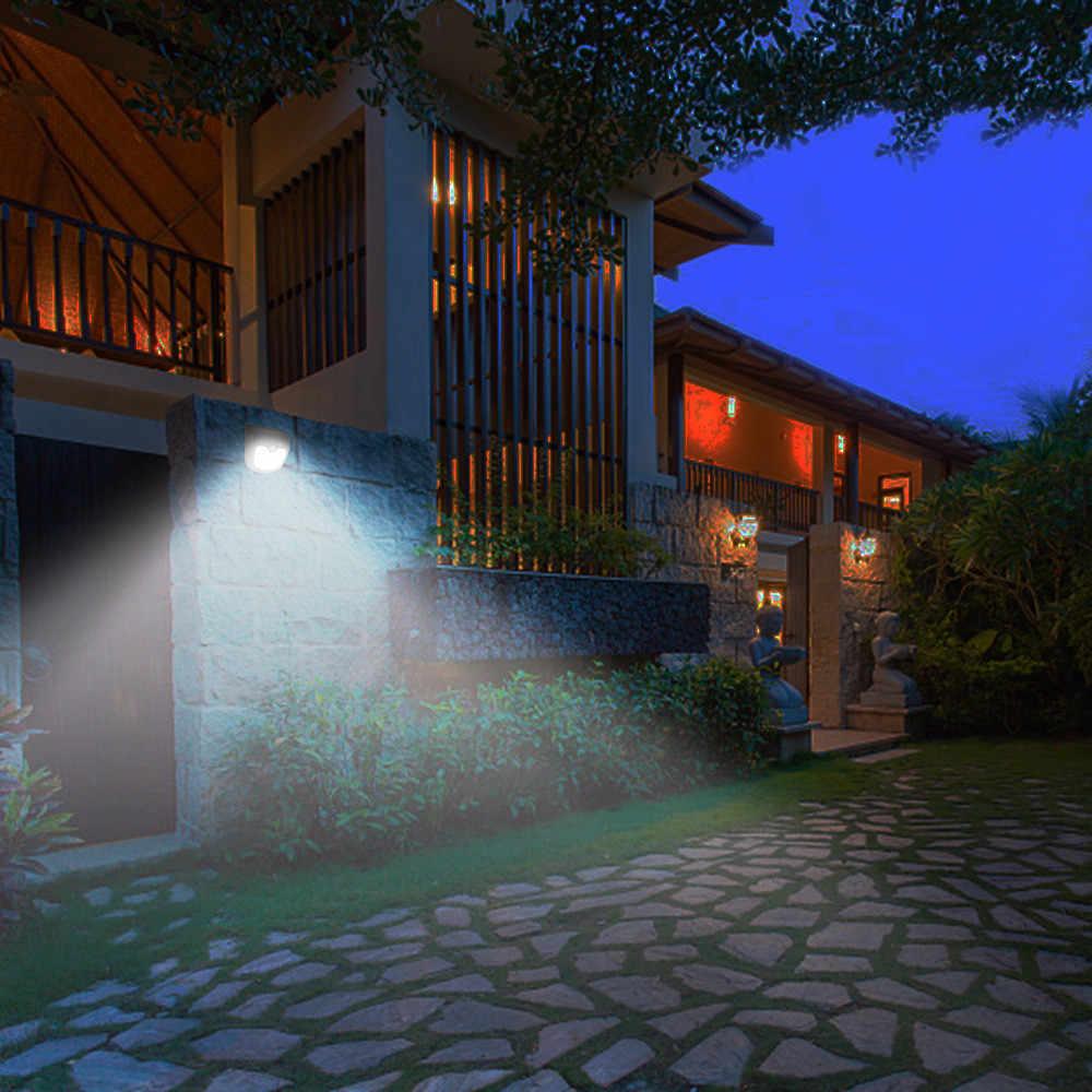 Светодиодный 12 настенный на солнечной энергии светильник PIR датчик движения Безопасность Открытый сад настенный светильник высокого качества светодиодный wandlamp