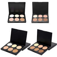Repair capacity powder 6 color facial powder toner concealer power palette contour highlighter bronze makeup powder