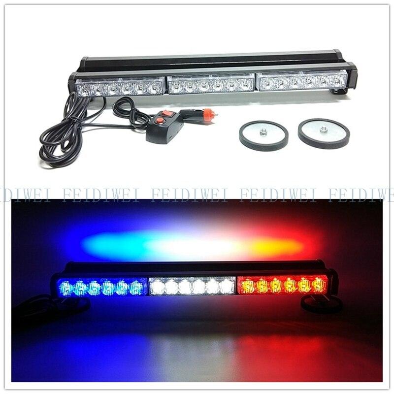 09014 Double 12 V 36 W lampe d'avertissement lumière de secours bleu blanc rouge jaune blanc ambre LED flash stroboscope signal lumineux à LED