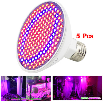 цена на 200 LED Plant Grow Light Growing Lights Bulbs E27 Lamp for Plants Hydroponics System Flower seeds Vegetable Indoor Greenhouse