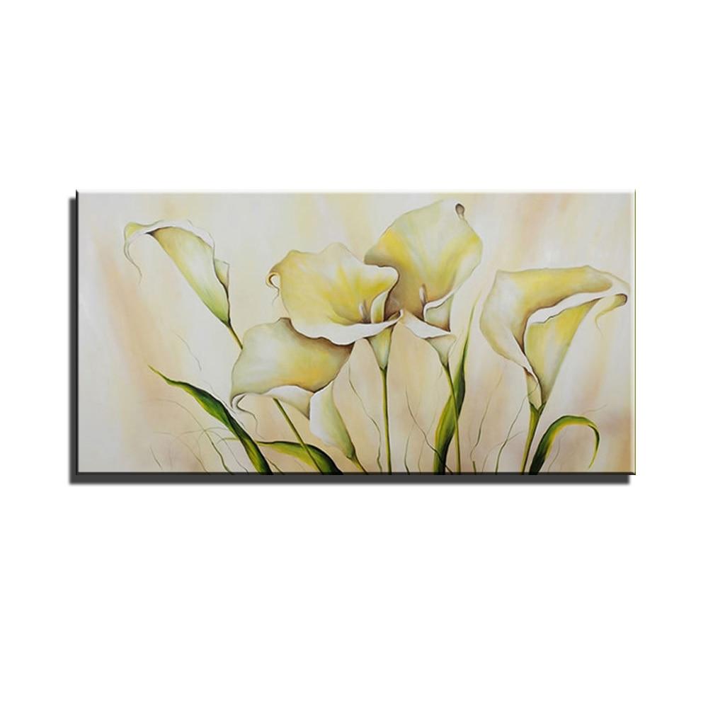 Perfect Abstract acrylic calla lily kitchen large canvas wall art handmade  VG06
