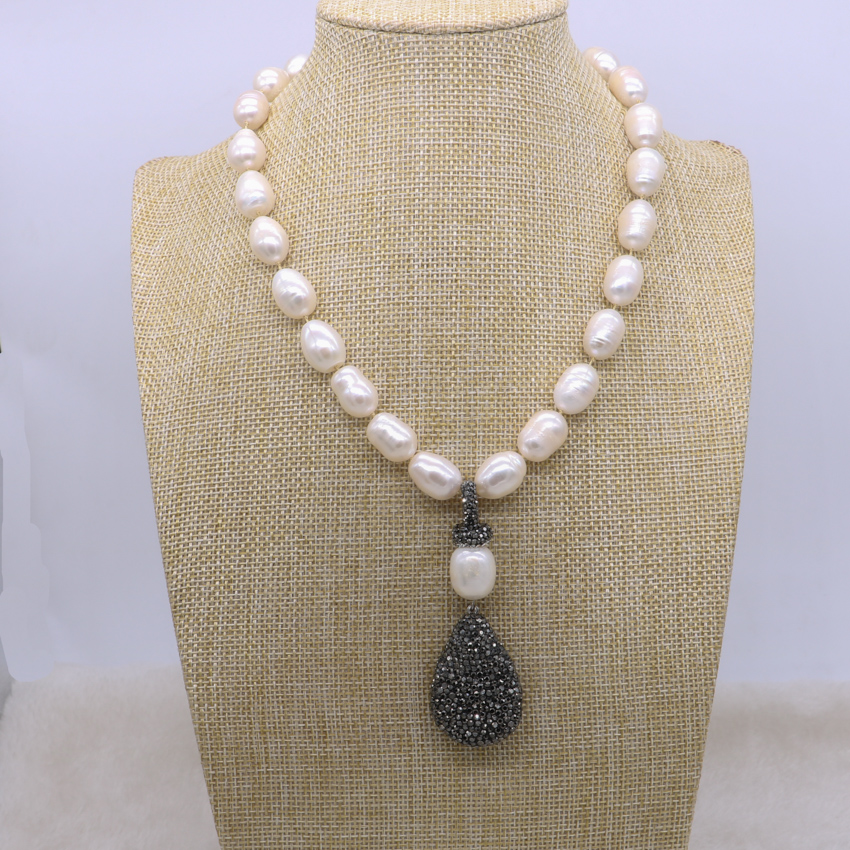 Pearl Necklace Styles: New Style Fashion Jewelry Natural Pearl Necklace Black