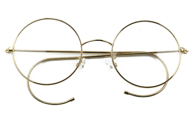 d7bf43d96f 47mm Agstum Antique Vintage Round Glasses Wire Rim Eyeglasses Spectacles  Prescription Optical Rx