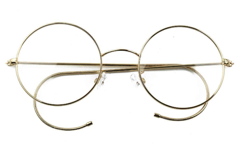 a1883ab62e 47mm Agstum Antique Vintage Round Glasses Wire Rim Eyeglasses Spectacles  Prescription Optical Rx