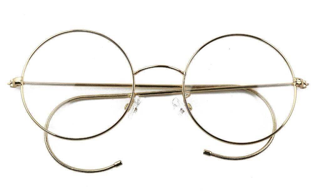 47mm Agstum Antique Vintage rond lunettes fil jante lunettes lunettes Prescription optique Rx