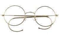 47mm Agstum Antique Vintage Round Glasses Wire Rim Eyeglasses Spectacles Prescription Optical Rx
