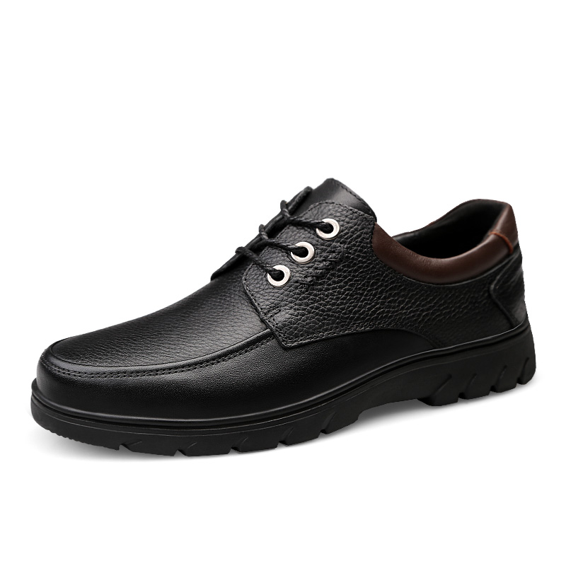 Britannique forme Brun En Hombre Vache Chaussures up Grande Respirant Sneakers Plate Zapatos Mens Noir Mode Plein Air Cuir Taille De Lace 5jRLA34q