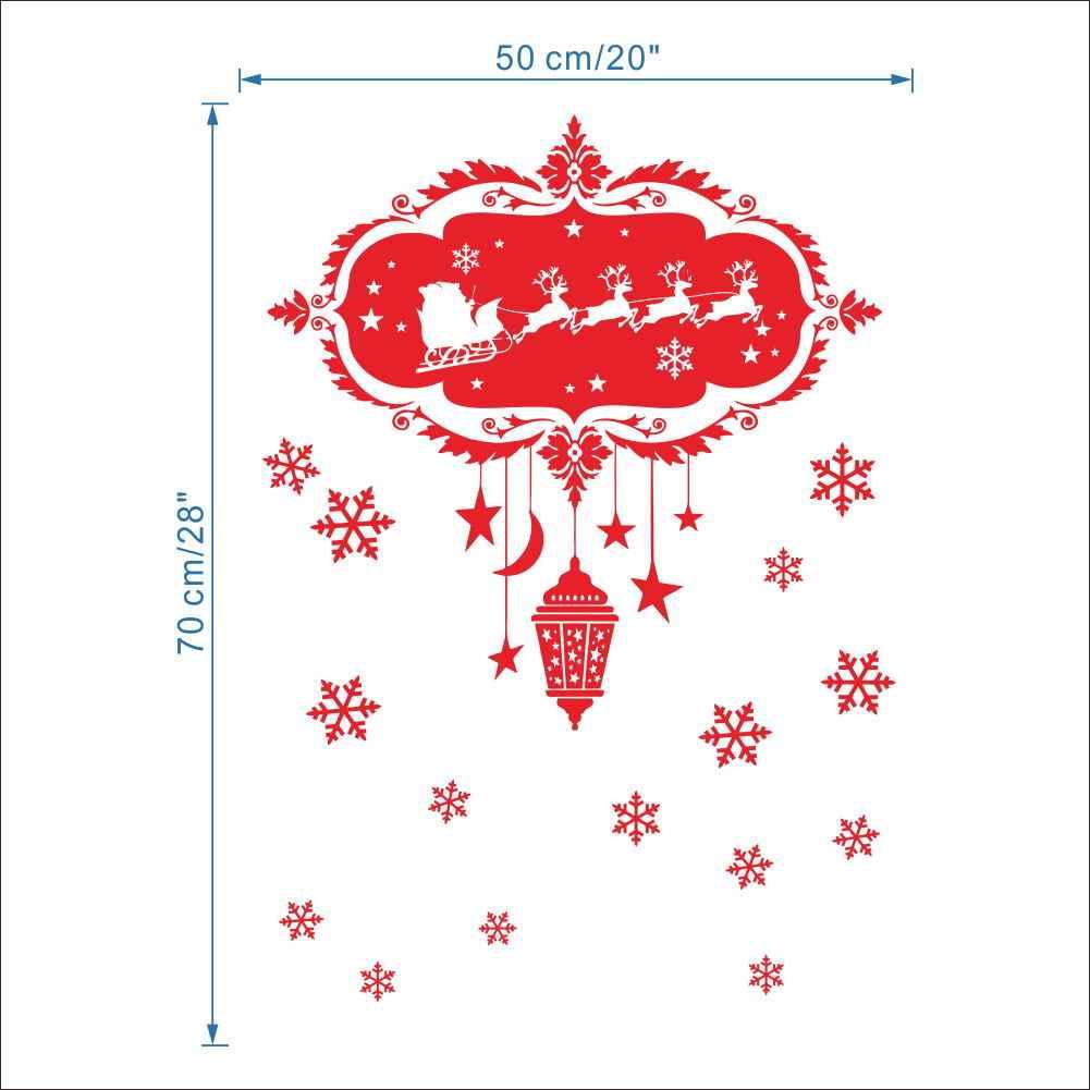 メリークリスマス装飾壁ステッカーサンタクローストナカイそりライト壁画ウィンドウ装飾 S