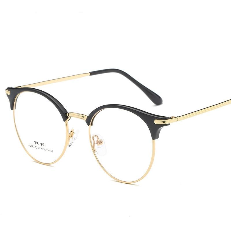 7755ca9ec7f Vazrobe Round Glasses Women Men Vintage Eyeglasses Frames Spectacles for Man  Female Prescription Eyeglass Semi Rimless Circle-in Eyewear Frames from  Apparel ...