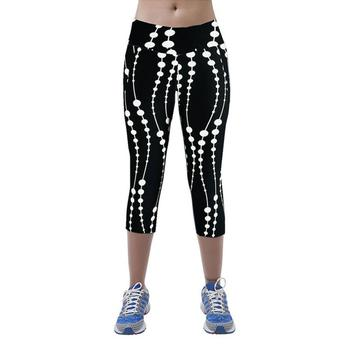 2017 Best Deal High Waist Fitness Yoga Sport Pants Printed Stretch Cropped Leggings Lady Women yoga pants Good-looking AU 17 1