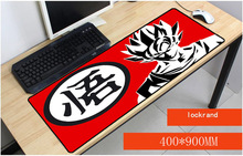 Yuzuoan 40*90 CM Dragon Ball Z Goku Logo Drop Shipping  Lock Edge Large Gaming Mouse pad Computer Laptop Optical Mice Play Mat