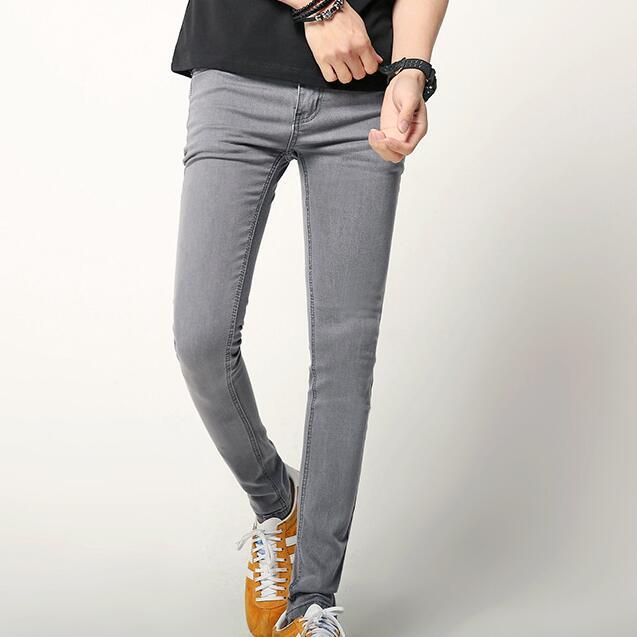 Men Grey Skinny Jeans Slim Denim Pants New 2017 Korean Fashion Mens Elastic Grey  Jeans Free - Popular Grey Skinny Jeans Men-Buy Cheap Grey Skinny Jeans Men Lots