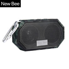 New Bee Portable Mini Wireless Bluetooth Speakers Waterproof subwoof Shower Outdoor Speaker Hands-free with Mic for Phone PC