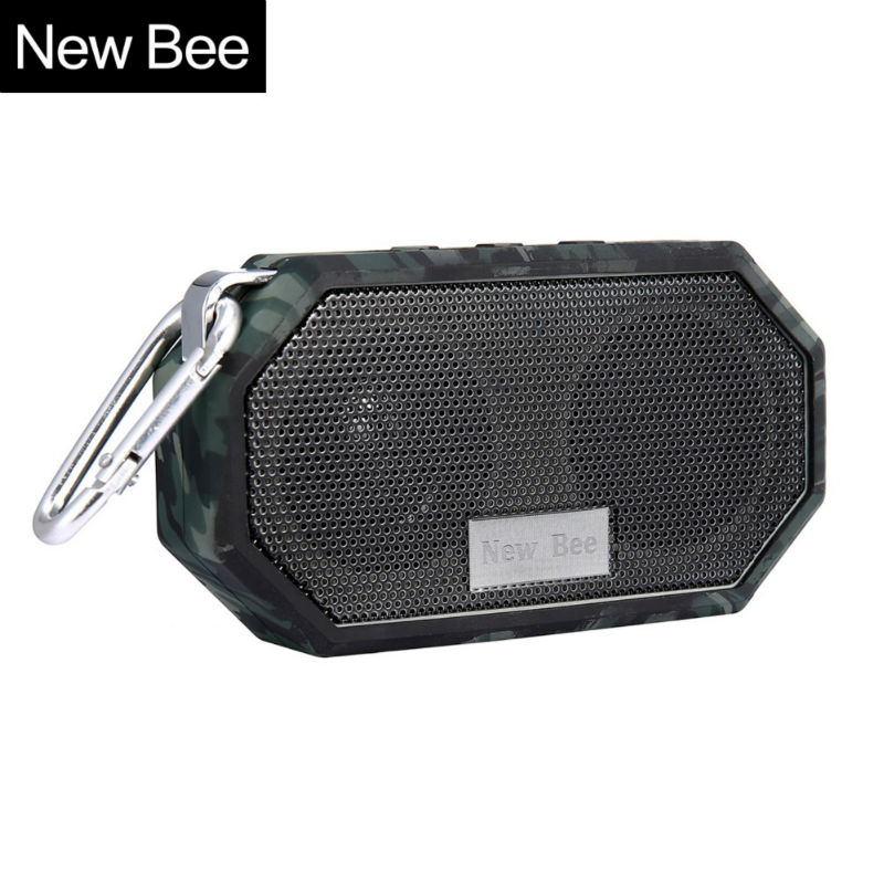 New Bee Portable Mini Wireless Bluetooth Speakers Waterproof subwoof Shower Outdoor Speaker Hands-free with Mic for Phone PC(China (Mainland))