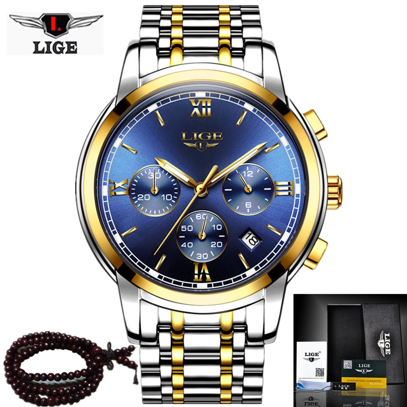 2017 LIGE Mens Watches Top Brand Luxury Military Sport Luminous Watch Men Business Quartz-Qatch Male Clock Man Relogio Masculino top brand sport men wristwatch male geneva watch luxury silicone watchband military watches mens quartz watch hours clock montre