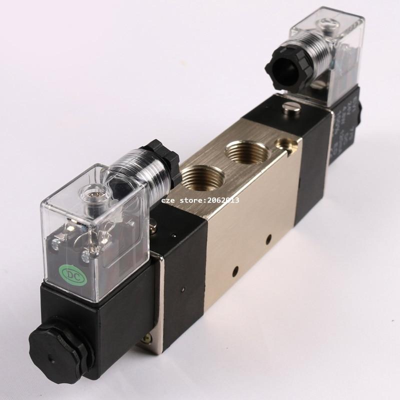 Pneumatic Tools 4V320-10 AC220V AC110V DC24V Pneumatic Solenoid Valve Fouble Coil